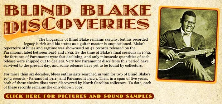 Blind Blake Discoveries