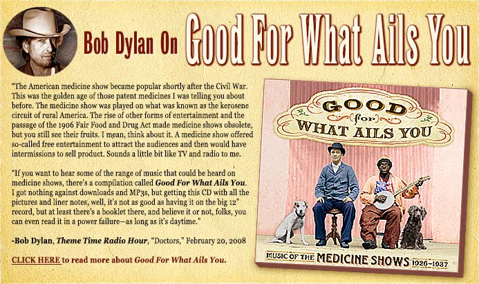 Bob Dylan Talks About The Medicine Shows