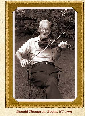 Donald Thompson with fiddle