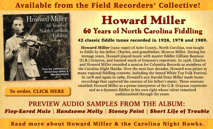 Howard Miller - 60 Years of North Carolina Fiddling